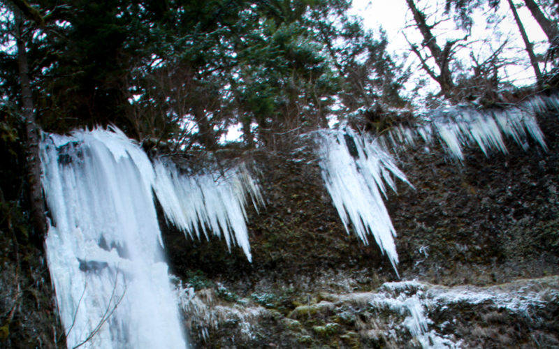 Ice Covered Waterfalls