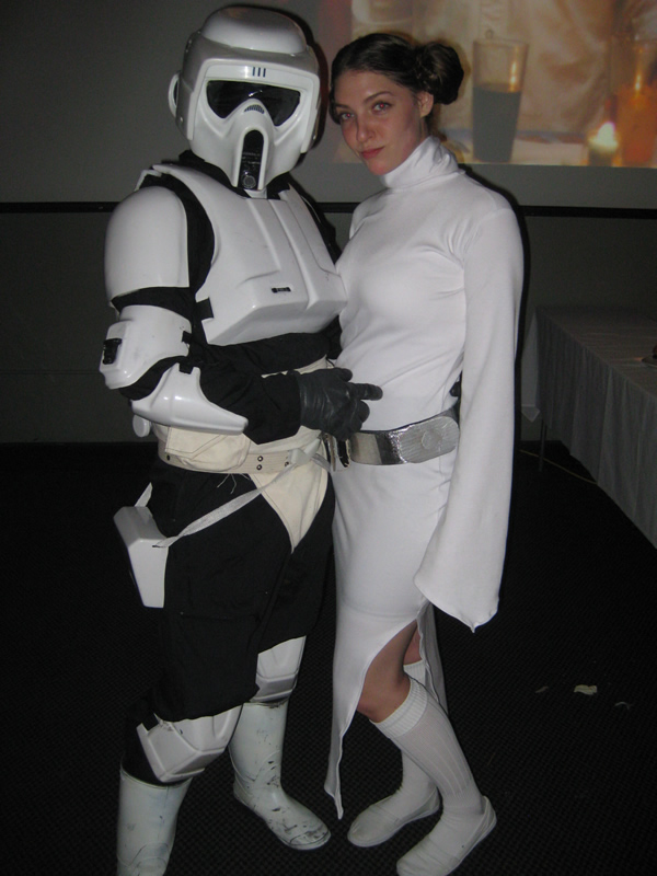 Biker Scout and Leia