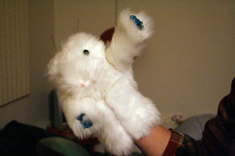 Rabbit Fur Coat Puppet